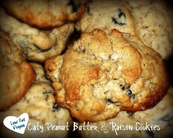Low Fat and Vegan Oatmeal Peanut Butter and Chocolate Chip Cookies