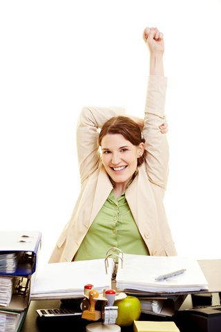 Exercise at work without breaking a sweat