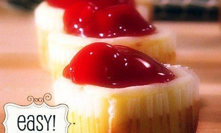 Paula Deen's Easy Mini Cherry Cheesecakes Recipe