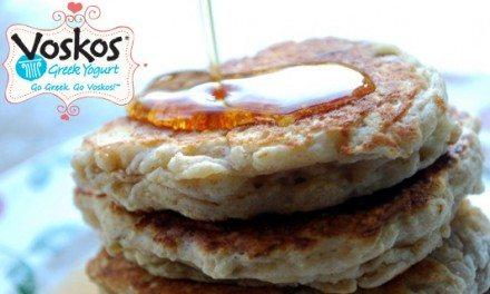Voskos Greek Yogurt Banana Pancakes Recipe