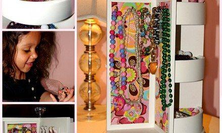 Kirkland's Floral Swivel Jewelry Caddy