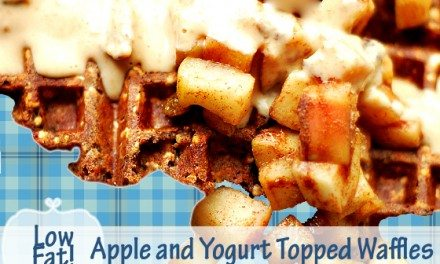 High Fiber Low Fat Apple and Yogurt Topped Waffles Recipe