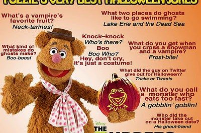 Fozzie Bear of the Muppet's Shares His Best Halloween Jokes