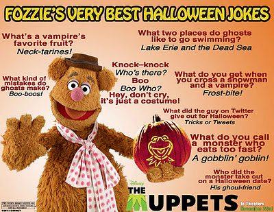 Fozzie Bear of the Muppet's Shares His Best Halloween Jokes