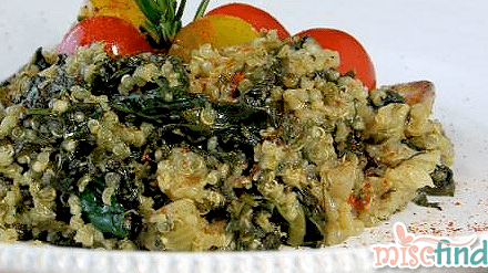 Recipe: Maria's Homemade Spinach Quinoa Mediteraneo