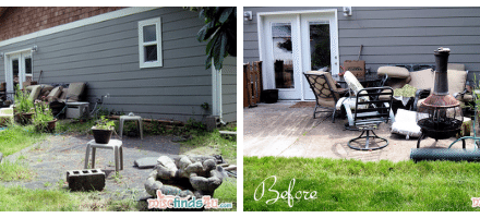 DIY Surprise Mini Backyard Makeover for Mom #KmartOutdoor #cbias