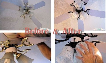 Home DIY: Ceiling Fan Makeover and Updating including Paint Tips