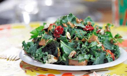 Recipe: Kale Salad with Homemade Hazelnut-Balsamic Vinaigrette Dressing
