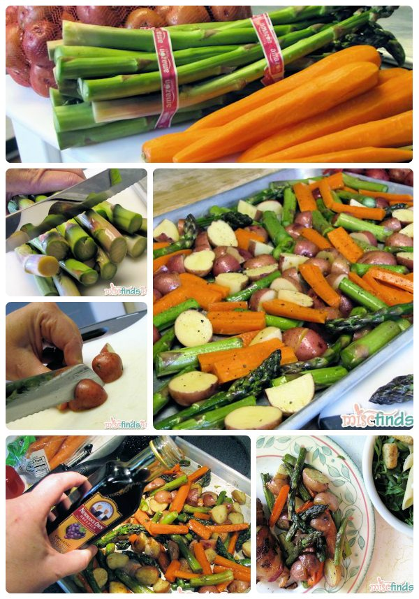 Roasted Vegetables with Garlic and Balsamic Vinegar