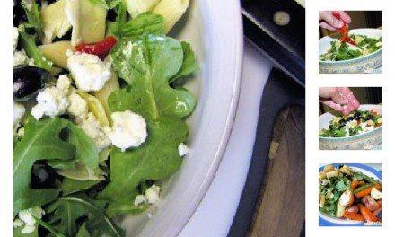 Recipe: Easy Artichoke Feta Salad with Creamy Green Goddess Dressing