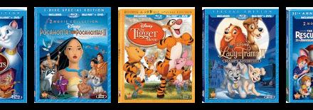 Disney Blu-ray News: 5 Iconic Animated Movies Released 8/21/12
