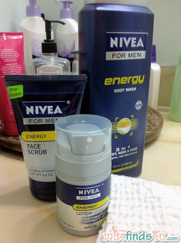 NIVEA FOR MEN - personal grooming products designed for males