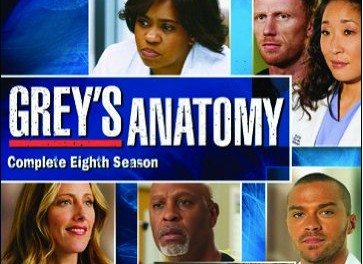 TV News: Grey's Anatomy: The Complete Eighth Season on DVD