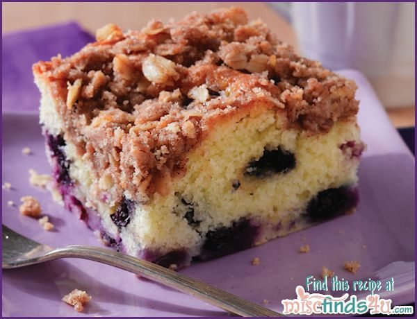 Easy Blueberry Coffee Cake Recipe with Streusel Topping