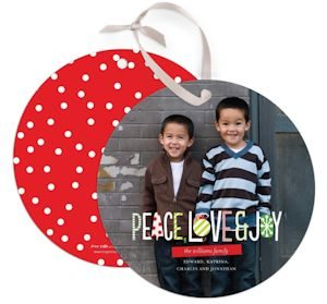 Holiday Cards that can be hung as Ornaments!