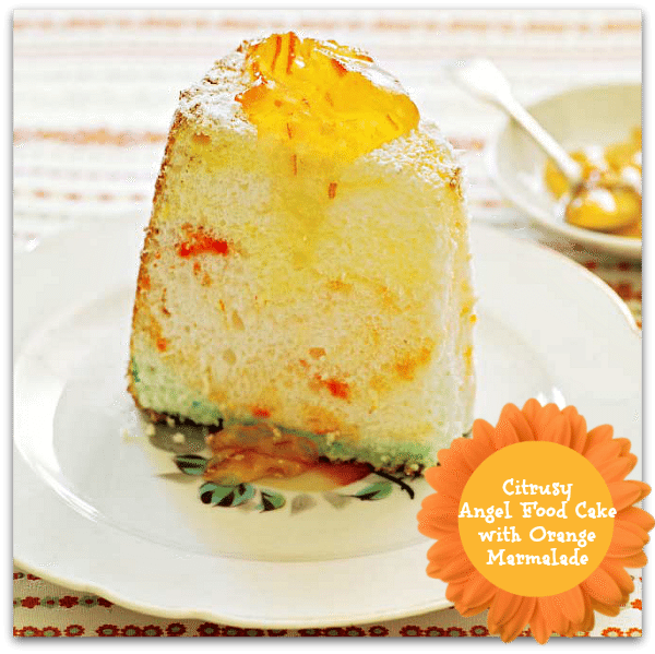 Citrusy Angel Food Cake with Orange Marmalade Recipe