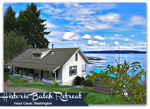 Vacation Rentals in Washington - Historic Balch Retreat Waterfront Home Hood Canal