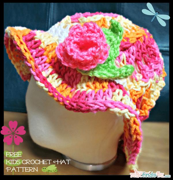 Red Heart Creme de la Creme Cotton Yarn Taffy Stripe Ombre - Free Children's Sun Hat Pattern