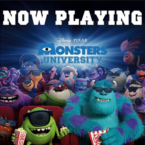 Disney Pixar Monsters University in Theaters Now