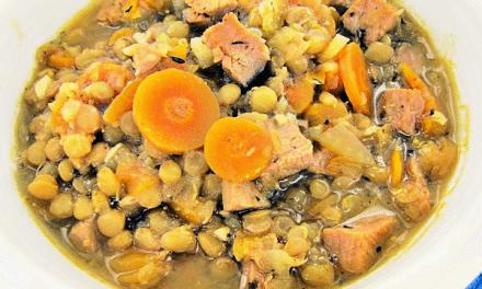 Recipes for Leftover Ham: Slow Cooker Lentil Soup