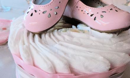 Baby Shower Ideas: Diaper Cake Centerpiece Tutorial