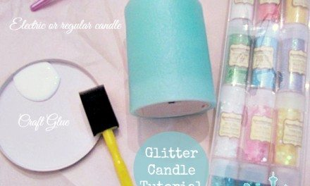 Glitter Candle Tutorial – Add Some Sparkle to  Flameless Candles