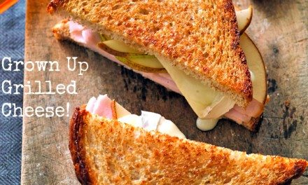 Grown Up Grilled Cheese – Turkey Pear and Brie Recipe