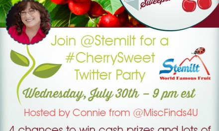 Stemilt #CherrySweet Twitter Party 7/30/14
