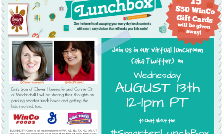 RSVP #SmarterLunchBox Twitter Party August 13 at 12PM PT