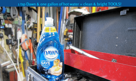 Dawn Cleaning Tips: Use it in the Garage