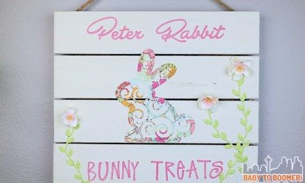 Easy Easter Crafts: Peter Rabbit Bunny Treats Sign
