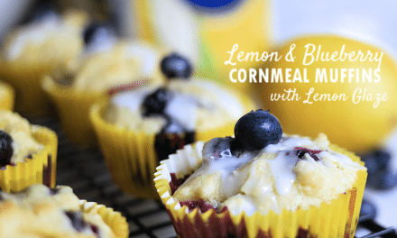 P.A.N. Brunch Favorites: Lemon and Blueberry Cornmeal Muffins with Lemon Glaze