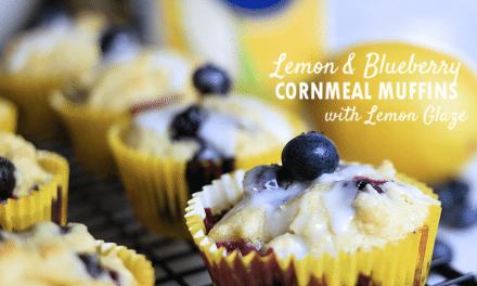 P.A.N. Brunch Favorites: Lemon and Blueberry Cornmeal Muffins with Lemon Glaze