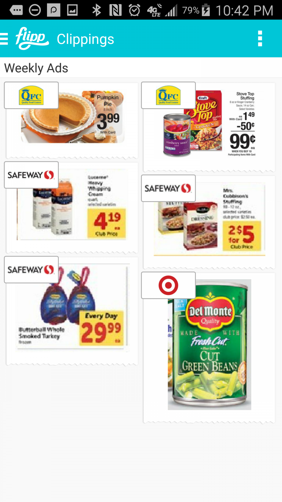 Flipp App - My Clippings - Flipp App - circulars online with coupons and matchups for major retailers across the US. ad