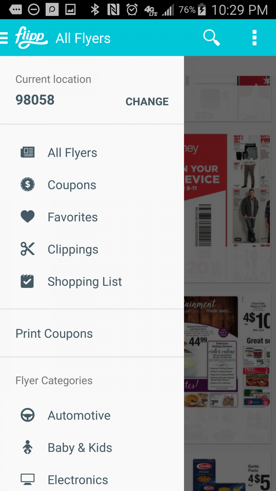 Flipp App - Homepage - Flipp App - circulars online with coupons and matchups for major retailers across the US. ad
