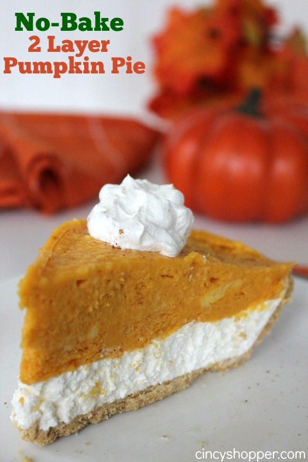 No Bake 2 Layer Pumpkin Pie