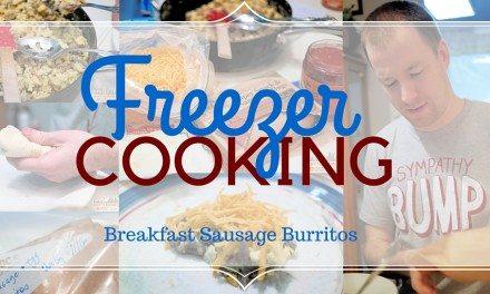 Breakfast Sausage Burritos – Freezer Cooking Recipe