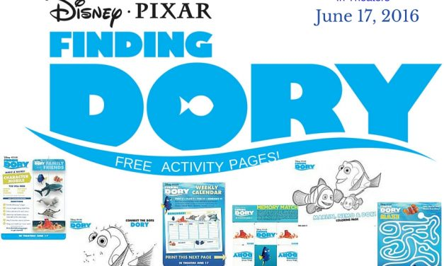 Disney's FINDING DORY Free Downloadable Activity Kit #FindingDory  #HaveYouSeenHer