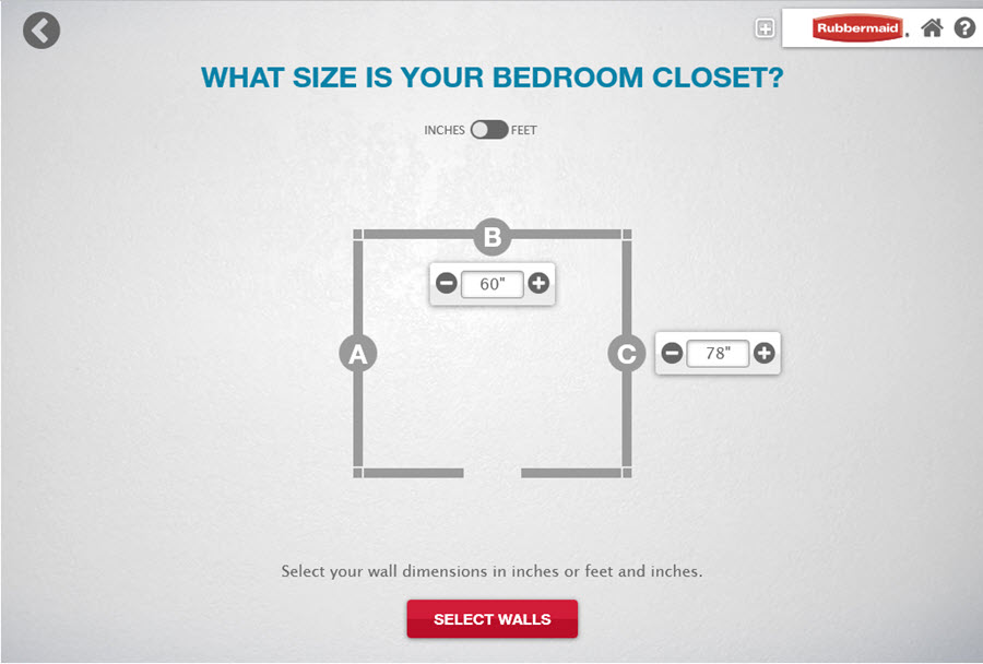 Rubbermaid Closet Designer - Walk in Closet ad