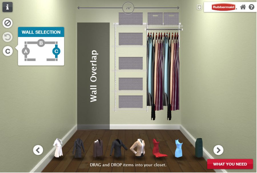 Rubbermaid Homefree Series Closet Designer Wall a ad