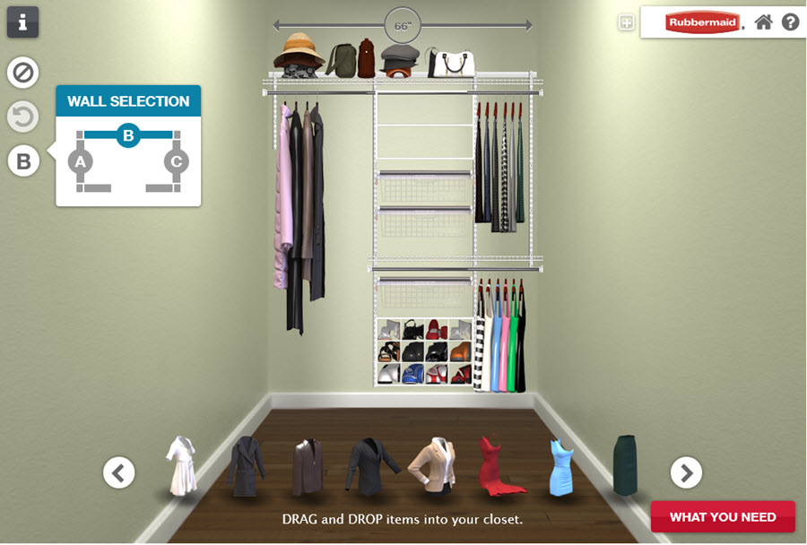 Rubbermaid Homefree Series Closet Organizers ad